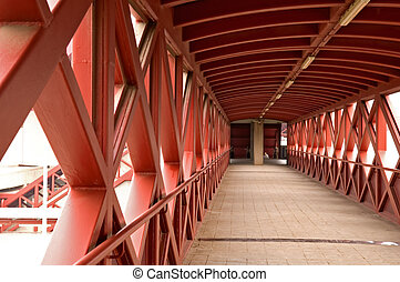 Overbridge - The perspective view of transition over road