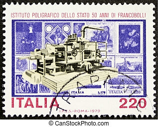 Polygraphic Institute postage stamp - ITALY CIRCA 1979: a...