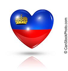 Love Liechtenstein, heart flag icon