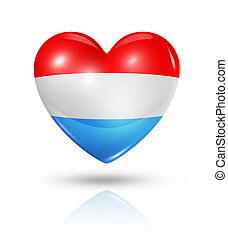Love Luxembourg, heart flag icon
