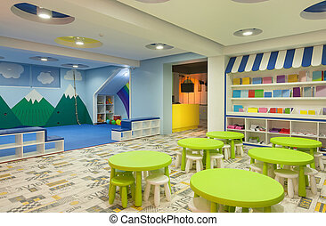 Kindergarten  - Interior of a modern kindergarten.