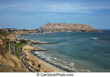 The Southern Coast of Lima - Coastal view of the districts...
