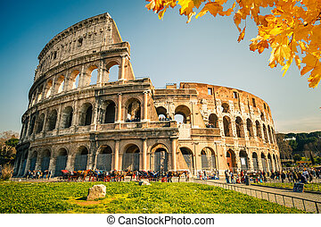 Colosseum in Rome - View on Colosseum in Rome, Italy