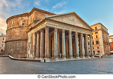 Pantheon in Rome, Italy - Famous Pantheon in Rome, Italy
