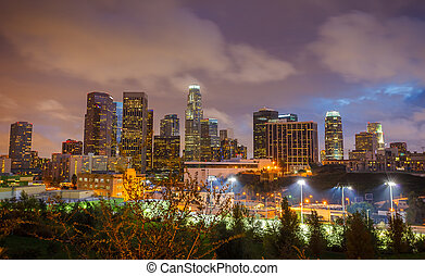 Los Angeles at night - Downtown of Los Angeles at night