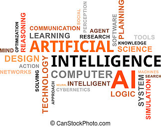 word cloud - AI - A word cloud of artificial intelligence...