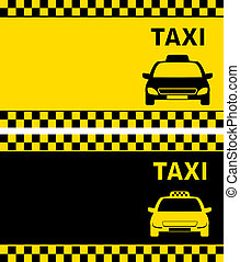 taxi business card - two taxi business card with cab image