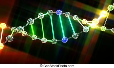 DNA Double Helix Animation - Animation of the DNA Double...