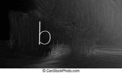Blog Handwritten With White Chalk On A Blackboard