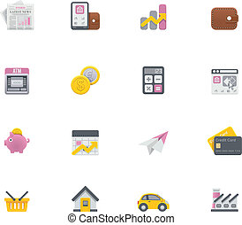 Vector banking icons - Set of the simple banking related...