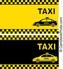 business card with taxi sign