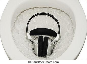 Headphones. - Headphones Sinks In Toilet. The Effects Of...