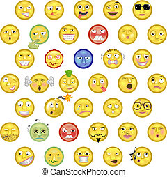 Emoticons - An illustration of a set of emoticon smileys