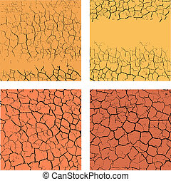 Set of cracks backgrounds - Set of backgrounds with cracks