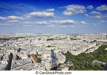 View on Paris  from the Eiffel Towe