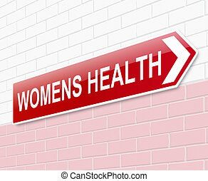Womens health sign - Illustration depicting a sign directing...