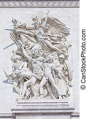 Arc de Triomphe Detail in Paris, France