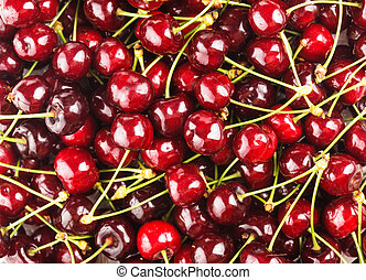 Sweet cherry background - Sweet cherry fruits close up as a...