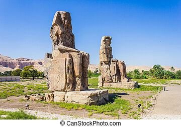 Colossi of Memnon, Valley of Kings, Luxor, Egypt, 2012 year