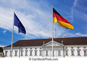 Schloss Bellevue. Presidential palace, Berlin, Germany -...
