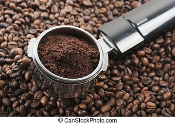 coffee dispenser - full coffee dispenser on coffee beans
