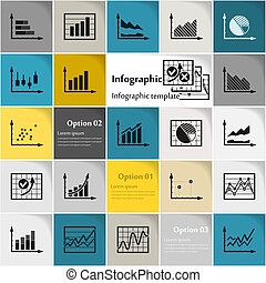Business Infographic - Business infographic icon vector...