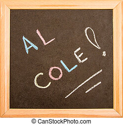 Backboard - Blackboard with a wooden frame, isolated