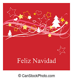 Christmas vector card or invitation for party with Merry...