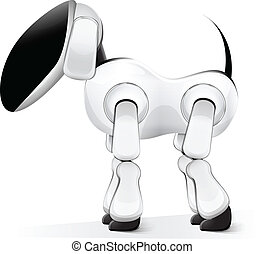 Vector illustration of robot dog