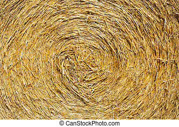 Close up ihay straw stack texture, agriculture background