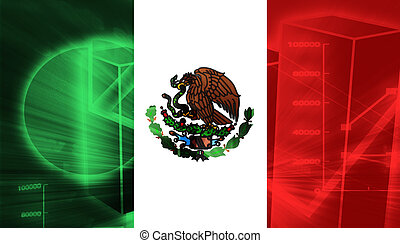 Flag of Mexico, national country symbol illustration