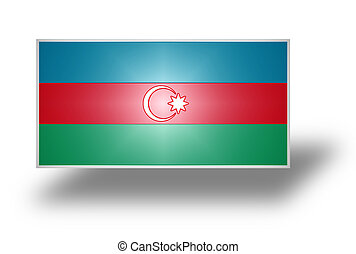 Flag of Azerbaijan stylized I - National flag and ensign of...
