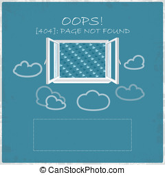 Error vector web page - 404 Error vector web page