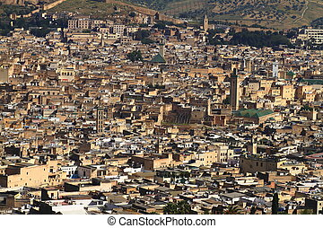 Fes - View over Medina of Fes, Morocco