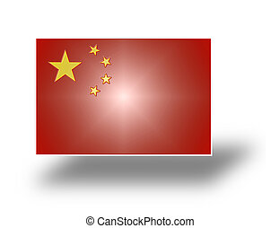 Flag of China stylized I - Flag of the Peoples Republic of...
