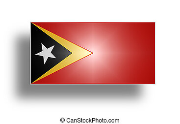 Flag of East Timor stylized I - National flag and ensign of...