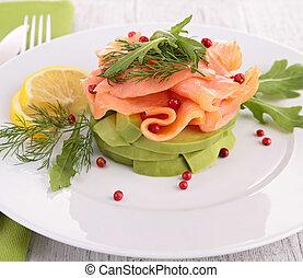 avocado and smoked salmon
