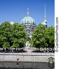 Berlin Catherdral and TV Tower, Berlin, Germany. - Berlin...