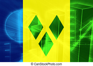 Flag of Saint Vincent and Grenadines, national country...
