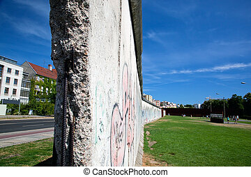 Berlin Wall Memorial with graffiti The Gedenkstatte Berliner...