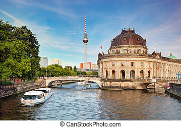 de, Bode, museum, berlin, Duitsland