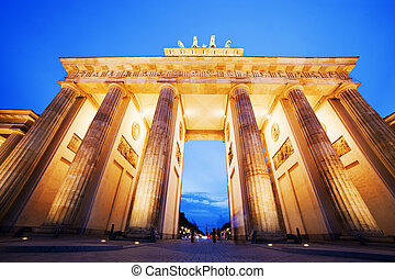 Brandenburg Gate, Berlin, Germany - Brandenburg Gate German...
