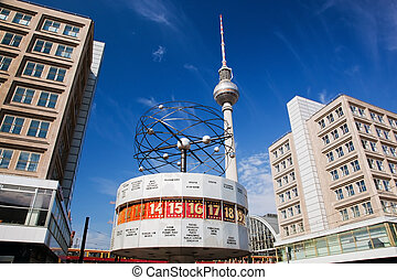 The Worldtime Clock, Alexanderplatz. Berlin, Germany - The...