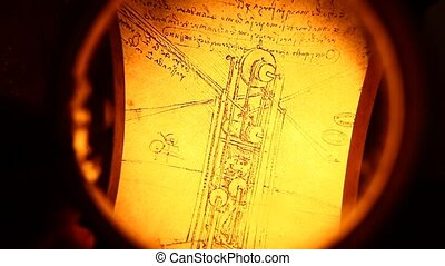 Leonardo da Vinci engineering drawing
