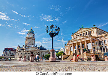 Gendarmenmarkt in Berlin, Germany. View on German Cathedral...