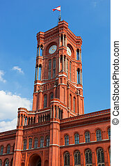 Rotes Rathaus, the town hall of Berlin, Germany - The Red...