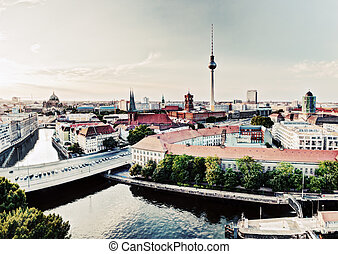 Berlin, Germany view on major landmarks - Berlin, Germany...