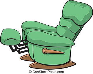 Recliner - Vector illustration of an open recliner chair.