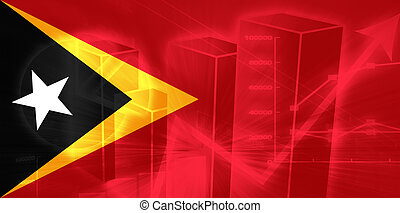Flag of Timor-Leste, national country symbol illustration