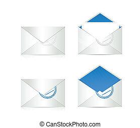 set of envelopes. illustration design